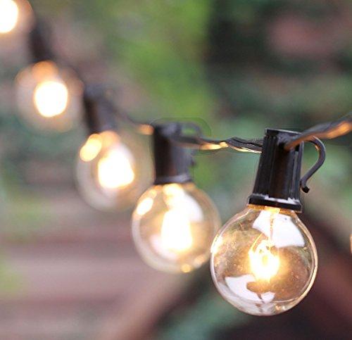 G40 Patio String Light Set With Clear Globe Bulbs Ul List