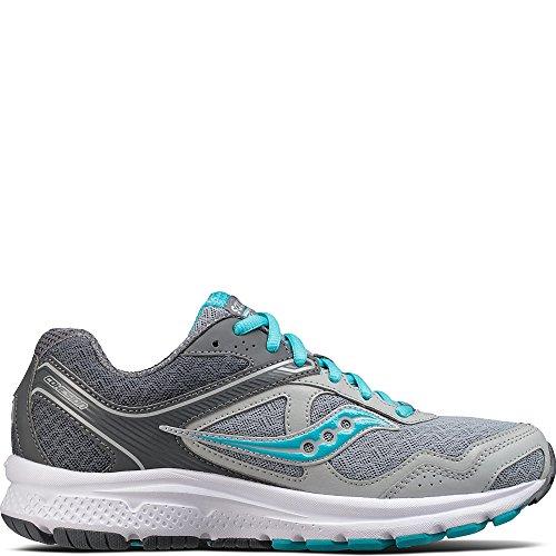c5e008b4 Saucony Women's Cohesion 10 Running Shoe, Grey Blue, 7.5 Medium US ...