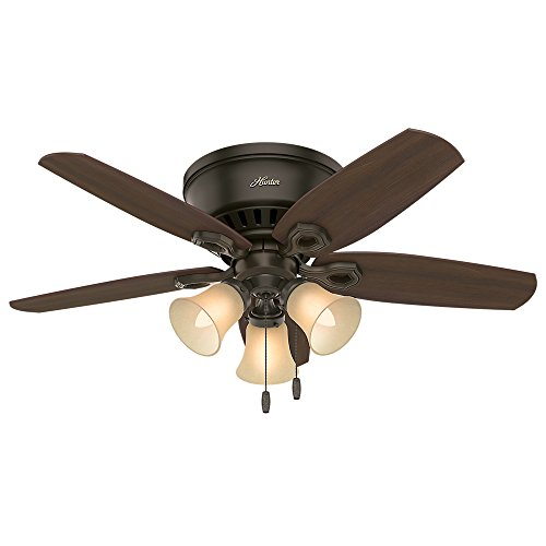 Hunter 53327 52 Builder Low Profile New Ceiling Fan With Light Bronze Arelaxo