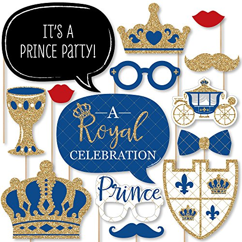d009f6149c8ab High-quality party supplies  royal prince charming baby shower or birthday  photo booth ...