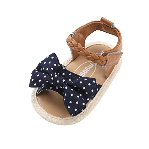 320f98fb2df CoKate Baby Toddler Boy Girls Bow Knot Sandals First Walker Shoes 6-12  Months