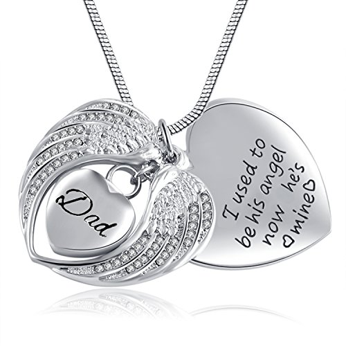 memorial necklace for mom,dad,pet,no longer by my side forever in my