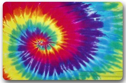 Interdesign Tie Dye Fabric Shower Curtain 72 X 72