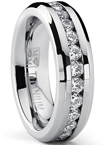 4f9849818ebd1 Metal Masters Co. Titanium Men's Wedding Band Engagement Ring with 9 ...