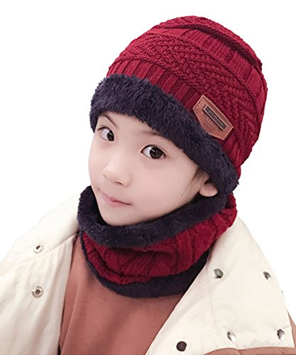 0e44417edabc The winter beanie scarf made of soft-spun acrylic and fleece lining hat and  scarf, ...