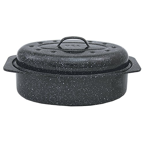 Granite Ware Flat Oval Roaster Rack With Handles Small